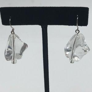Beaded Ice Cube Earrings